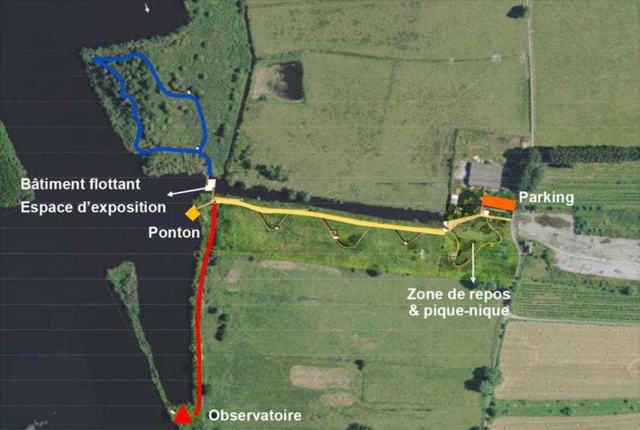 Plan de la tourbière d'Heurteauville