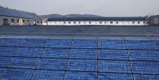 Panneaux solaires sur un logement social