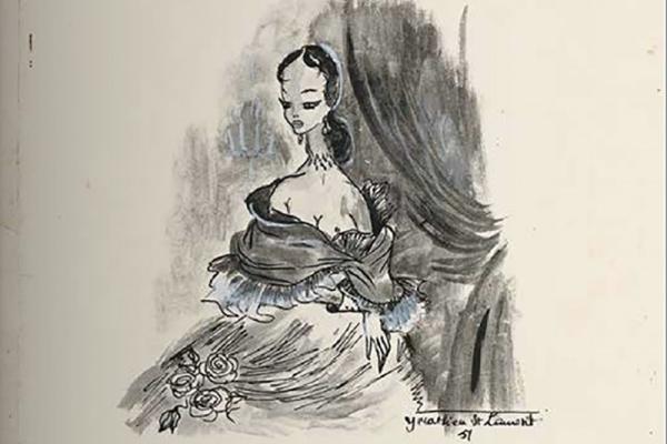 La plume de Gustave Flaubert et le crayon d'Yves Saint Laurent