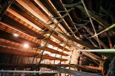 Restauration de la roue à la Corderie Vallois