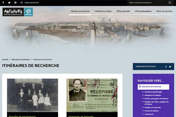 Un nouveau site pour les Archives départementales